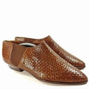 Cole Haan Leather Basket Weave Boots Sz 10B